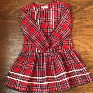Pastourelle Pippa and Julie NWOT red plaid dress
